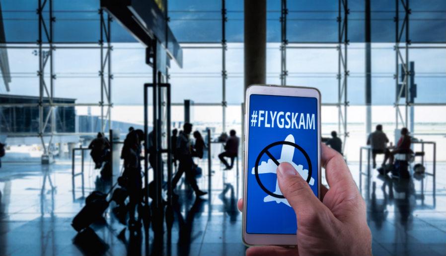 Flygskam, no volar por conciencia ecológica